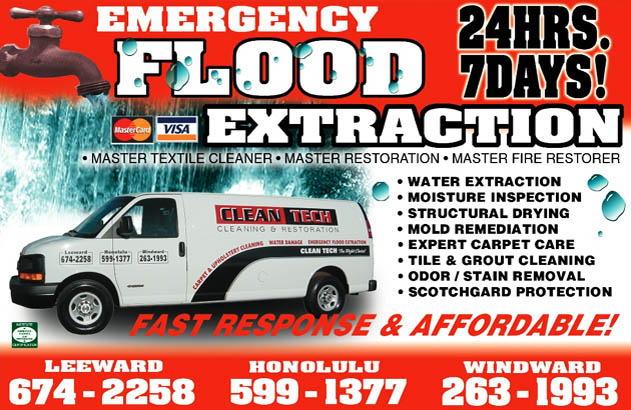 Flood Amp Water Extraction Carpet Cleaning Hawaii Clean Tech